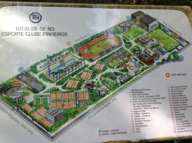 Clube Pinheiros, um oasis verde em SP