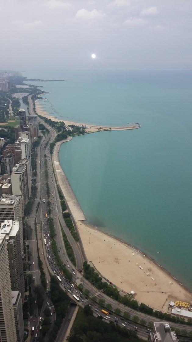 Vista do John Hancock Center - 360° Obeservatory - Chicago