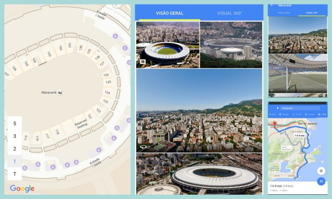 Street View, Street view indoor e indoor maps do Maracanã