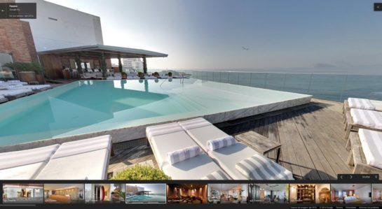 Fotos das instalações internas do Hotel Fasano em Ipanema - um dos mais de 200 estabelecimentos registrados