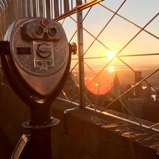 Nova York – Nascer do sol no Empire State