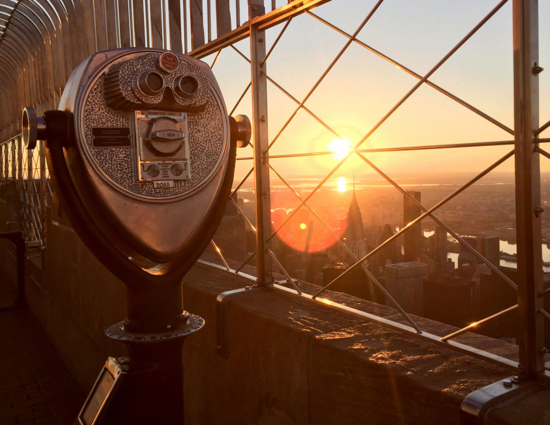 Nova York – Nascer do sol no Empire State