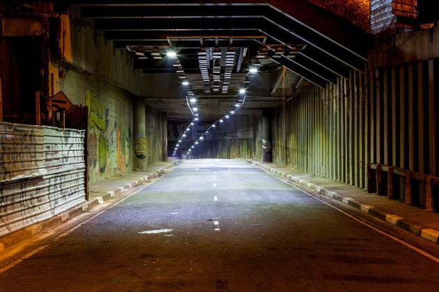 Foto dentro do túnel São Paulo