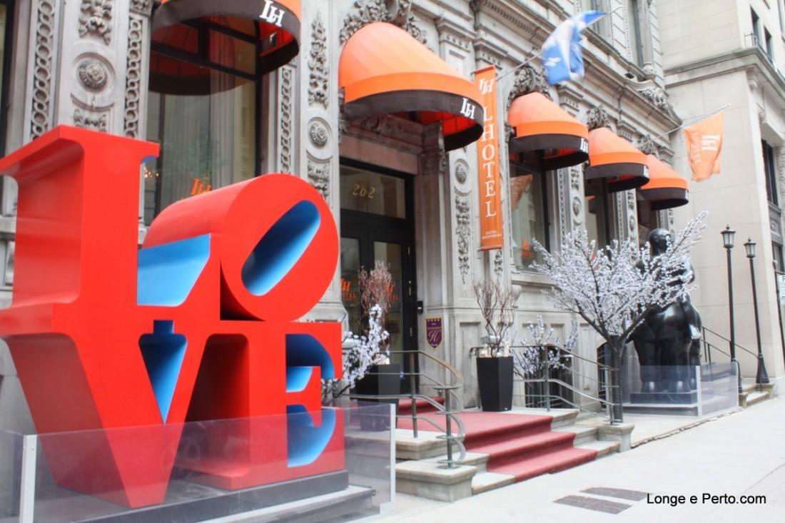 L´Hotel Montreal, Hospedagem com Arte