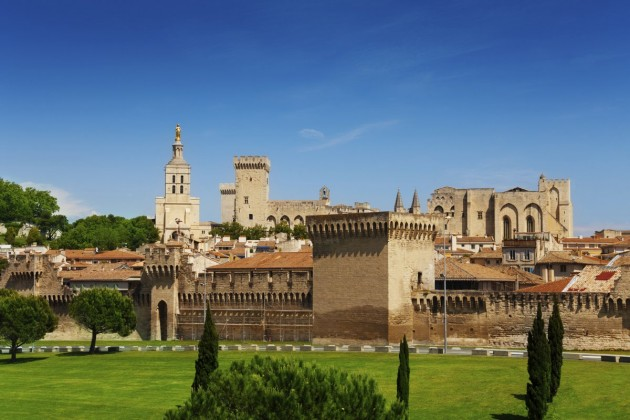 Avignon town in Provence province