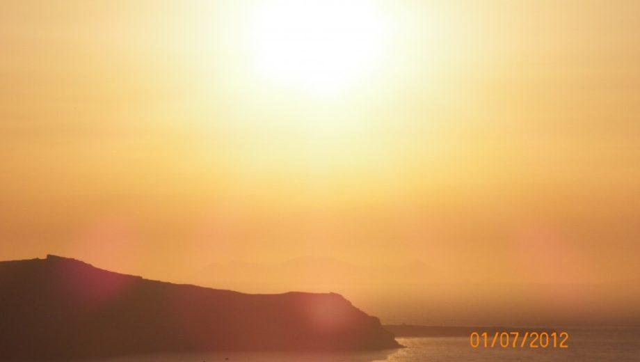 Por do Sol em Santorini