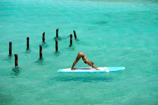 Yoga - SUP yoga em Aruba 2