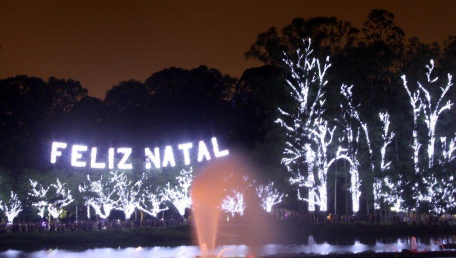 Iluminaçāo de Natal do Parque Ibirapuera , Feliz Natal!