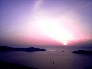 Santorini – O primeiro Por do Sol